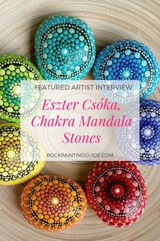 Paint Mandala Stones with Eszter Csóka of Chakra Mandala Stones Pebble Painting, Love Painting, Mandala Meaning, How To Start Painting, Chakra Painting, Mandala Jewelry, Doodle, Mandalas Drawing, Design Tattoo
