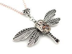 Ornate Watch Dragonfly Pendant Steampunk Watch by SteamSect