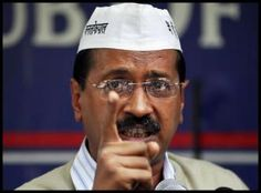 Aam Aadmi Party leader Arvind Kejriwal, who is contesting Lok Sabha polls against Narendra Modi from Varanasi, during 19th April 2014 expres...