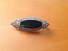 Vintage Sterling Silver Black Onyx And Marcasite Cluster Brooch. Stamped 925 in Jewellery & Watches, Vintage, Antique Jewellery | eBay