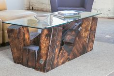 Derailment Coffee Table:CUSTOM FURNITURE  - ARTISAN CREATED - CRAFTSMAN BUILT