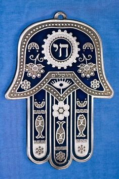 Hamsa to ward off the evil eye. Jewish Crafts, Jewish Art, Hamsa Tattoo Design, Hamsa Design, Hamsa Symbol, Hamsa Art, Arte Judaica, Hand Of Fatima, Judaism