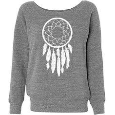 Dreamcatcher Junior Fit Bella Triblend Slouchy Wideneck Sweatshirt