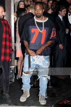 Kanye West arrives at Vogue 95th Anniversary Party as part of the Paris Fashion Week Womenswear