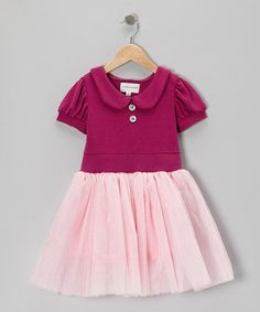 Take a look at this Raspberry Day Dreamer Tutu Dress - Girls by fiveloaves twofish on #zulily today!