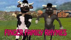 3d rhymes for children | 3d cow finger family | finger family songs for ...