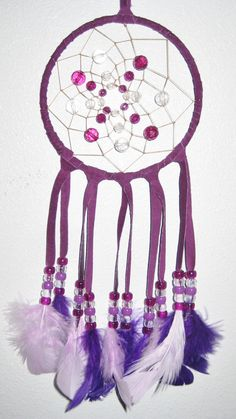 Purple Dream Catcher 5 inch by moonshadowgift on Etsy, $18.50