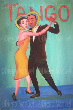 tango 2, acrylic on canvas, 70x 47 cm.   By Diego Manuel