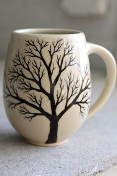 Enjoying a cute mug....