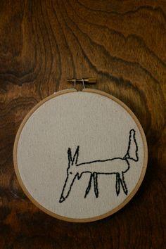 Little Fox Embroidery Hoop