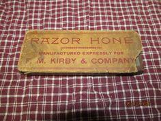 Vintage F. M. Kirby & Company Razor Hone Original Box Nice Primitive condition by EvenTheKitchenSinkOH on Etsy