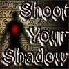 Shoot Your Shadow - http://www.funtime247.com/action/shoot-your-shadow/ - In an egyptian temple a dancing shadow laughing at you. So you must Shoot Your Shadow in the red heart with green poison. But if you destroy the egyptian temple more then 100%, you must clean it to try again.