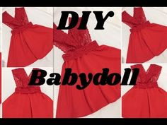 "DIY""BABYDOLL"" Confeccion - YouTube Learn To Sew, Baby Dolls, Plus Size, Fancy, Learning, Formal Dresses, Bikinis, Crafts, Diy"
