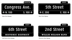 street signs - future Free Dance Classes, Royal Blue Grocery, Custom Street Signs, Street Run, Austin Real Estate, Directional Signs, Class Schedule, Business Journal, Wayfinding Signage