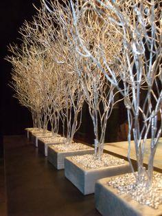 Silver branch decor