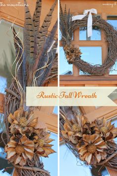 DIY Rustic Fall Wrea
