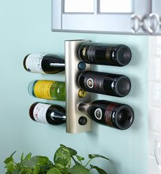 Wine Rack - Lee Valley Tools Lee Valley, Bottle Rack, Wine Collection, Smart Storage, Nickel Finish, Wine Rack, Barware, Cleaning, Man Cave