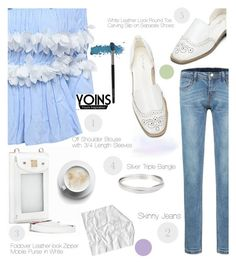 """Pretty blue(Yoins outfit 1)"" by sofia10-1 ❤ liked on Polyvore featuring yoins, yoinscollection and loveyoins"