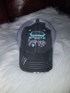 Super cute embroidered hat with Jeep Life. Made just for you!! Perfect for aac58fe87e9d