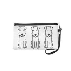 Lakeland Terrier Dog Cartoon Wristlet Clutches