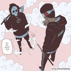 I've never heard of that strand but these clouds are fluffy! Comic Kunst, Comic Art, Art And Illustration, Anime Kunst, Anime Art, Dope Kunst, Photographie Street Art, Trill Art, Black Anime Characters
