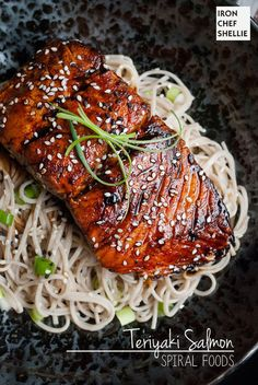 Teriyaki Salmon with Soba Noodles : Iron Chef Shellie | The Man With The Golden Tongs | Scoop.it
