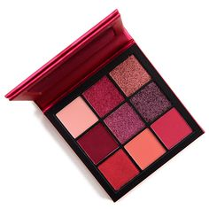 Huda Beauty Ruby Obsessions Eyeshadow Palette for oz. is a new limited edition palette that featured an assortment of pinkredbased shades How To Do Eyeshadow, Makeup Eyeshadow Palette, Shimmer Eyeshadow, Mac Makeup, Makeup Cosmetics, Beauty Makeup, Makeup Hacks, Makeup Ideas, Makeup Collection