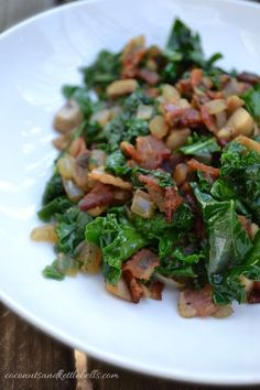 Kale and Bacon Breakfast Hash - 7 Egg Free Breakfast Recipes - Coconuts & Kettlebells