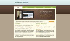 Design a Clean Portfolio Site in Photoshop - DesignM.ag