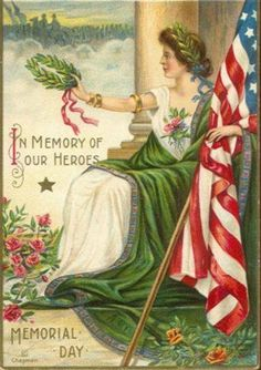 Red, white, and blue...vintage Memorial Day poster