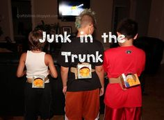 Junk in the Trunk - Minute to Win it game. BY FAR my FAVORITE! I laughed so hard. Fun and easy. Sleepover ideas.