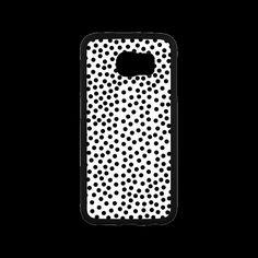 Black Polka Dot Design Rubber Case for Samsung Galaxy S6.Polka dot design. This polka dot pattern makes a great gift for any polka dot lover