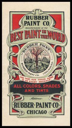 Rubber Paint Company | Sheaff : ephemera