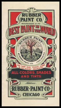 Rubber Paint Company | Sheaff : ephemera
