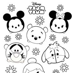 Cute Tsum Tsum Coloring Pages. Welcome to the Tsum Tsum Coloring Pages! Okay, what do you know about Tsum Tsum? It is better for you to know that Tsum Tsum is t Dog Coloring Page, Free Coloring Sheets, Cute Coloring Pages, Disney Coloring Pages, Animal Coloring Pages, Coloring Pages To Print, Printable Coloring Pages, Adult Coloring Pages, Coloring Pages For Kids