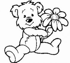 Teddy Bear Coloring Pages Theme | Free Printable Teddy Bear ...