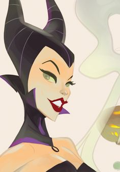 Naughty Maleficent by Otto Schmidt Art Disney Magic, Disney Pixar, Walt Disney, Disney Fan Art, Disney Villains, Disney And Dreamworks, Disney Animation, Disney Love, Disney Characters