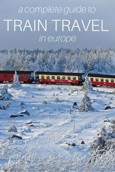 Everything you need to know about train travel in Europe - from country to country, reservations, rail passes, and useful tips, this is the most comprehensive guide to train travel in Europe Europe Destinations, Europe Travel Tips, European Travel, Travel Guides, Places To Travel, Travel Pro, Slow Travel, European Vacation, Budget Travel