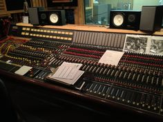Here's a beautiful Trident TSM console at Chuck Kavooras' Slideaway Studio in Shadow Hills, CA. The picture was taken during the making of Adrianna Marie's new album. http://bobbyowsinski.blogspot.com #recording #musicians