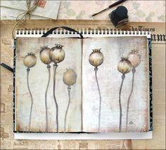 Watercolors by Maria Stezhko (Акварели Марии Стежко): Poppy heads