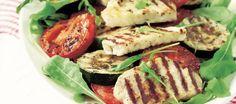 Grillattu halloumi-tomaattisalaatti   Alkuruoat   Reseptit – K-Ruoka