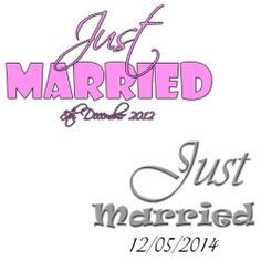 £3.95 Personalised Just Married Wedding Luggage Tags