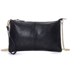 New Trending Clutch Bags: Wristlet Wallet,YOUNA Small Leather Crossbody Purse with Chain Shoulder Strap Black. Wristlet Wallet,YOUNA Small Leather Crossbody Purse with Chain Shoulder Strap Black  Special Offer: $15.99  222 Reviews Material:High quality genuine leather,fabric lining,gold hardware. Size:9″x0.5″x5.2″inches. Weight:0.52Lb. Color:white/black/blue/dark orange/beige...