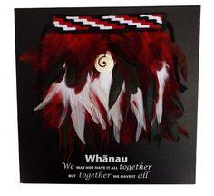 This Miniature Maori Whanau Korowai Canvas Wallhanging incorporates a hand made miniature red korowai cloak and handmade bone hei matau hook necklace,. Flax Weaving, Weaving Art, Weaving Patterns, Maori Patterns, Maori Designs, Maori Art, Kiwiana, Wearable Art, Design Art