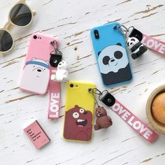 Cute Cartoon We Bare Bears brothers funny soft phone case for iphone 5 7 8 plus X XR XS MAX for samsung Note 8 9 Kawaii Phone Case, Girly Phone Cases, Disney Phone Cases, Funny Iphone Cases, Diy Phone Case, Iphone Phone Cases, Samsung Cases, Iphone 7 Plus Tumblr, Mochila Do Bts