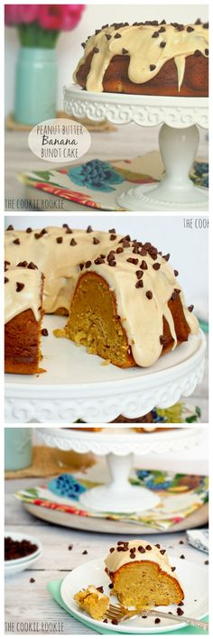 Peanut Butter Banana Bundt Cake: SUPER EASY!! My favorite cake EVER. - The Cookie Rookie