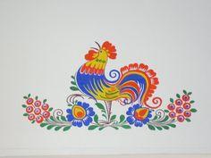 a Goddess Art, Moon Goddess, Rooster Art, Scandinavian Folk Art, Principles Of Art, Mural Wall Art, Stencil Patterns, Country Art, Gourd Art