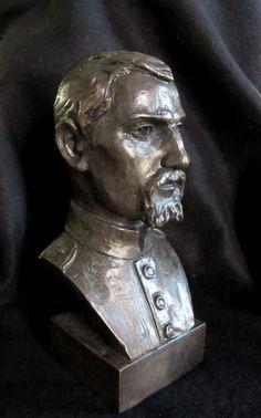 Bronze Lost Wax Cast Sculpture Portrait Civil War Soldier Figure/Bust Original, $350.00, www.springgallerymaine.com, www.modernartfoundry.com