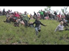 The madness of the Brits! This video of Gloucestershire Cheese Rolling 2012 shows locals chasing a Double Gloucester cheese down a VERY steep hill. It is an annual event which takes place ever Whitsun bank holiday at Coopers Hill, nr Brockworth, Gloucestershire. As this is local to where I live, I used to go and watch and it is pure madness but a fun atmosphere. Another wonderful, eccentric tradition!
