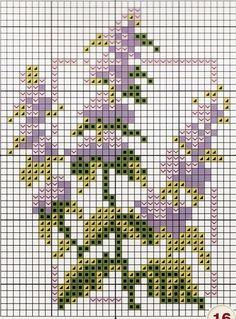 cross stitch chart - lavender